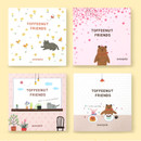 Monopoly Toffeenut sweet and warm illustration memo notepad