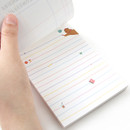 Easy tear off - Monopoly Toffeenut sweet and warm illustration letter memo notepad