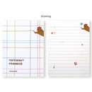 Drawing - Monopoly Toffeenut sweet and warm illustration letter memo notepad