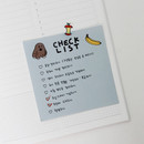 Example of use - Gunmangzeung Ghost pop checklist memo planner notepad