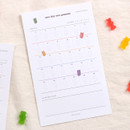 Dash and Dot One day one gummy 30 days goal tracker planner