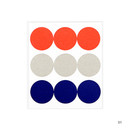 01 - Dailylike Color 22mm circle deco sticker 4 sheets