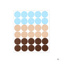 05 - Dailylike Color 12mm circle deco sticker 4 sheets