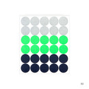 02 - Dailylike Color 12mm circle deco sticker 4 sheets