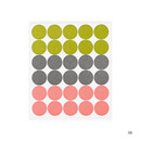 06 - Dailylike Color 12mm circle deco sticker 4 sheets