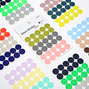 Dailylike Color 12mm circle deco sticker 4 sheets