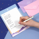 Example of use - Second Mansion Moonlight letter paper envelope set