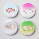 Hello Today Hushed brown hand drawing round magnet