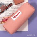 Peach pink - Second Mansion Etudes zipper fabric pencil case pouch