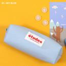 Sky blue - Second Mansion Etudes zipper fabric pencil case pouch