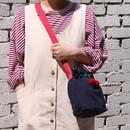 Navy - ROMANE Cherry cotton crossbody bucket bag