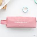 Pink - ICONIC Bonheur constant double zipper pencil case pen pouch