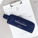 Navy - ICONIC Bonheur constant double zipper pencil case pen pouch