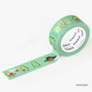 Avocado - ICONIC Enjoy pattern paper deco masking tape