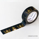 Congratulations - ICONIC Vintage pattern paper deco masking tape