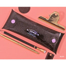 Black - Second Mansion Moonlight twinkle folding pencil case pouch