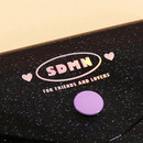 Snap button closure - Second Mansion Moonlight twinkle notepad notebook organizer