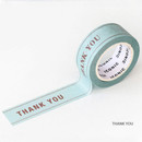 Thank you - ICONIC Message pattern paper deco masking tape