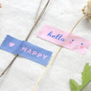Example of use - ICONIC Message pattern paper deco masking tape