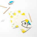 Example of use - Ggo deung o flower small grid and lined notebook