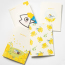 DESIGN IVY Ggo deung o flower small grid and lined notebook