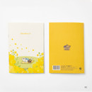 02 - DESIGN IVY Ggo deung o flower small grid and lined notebook