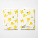 04 - DESIGN IVY Ggo deung o flower small grid and lined notebook