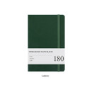 Green - Prism 180 pages medium blank notebook with elastic band