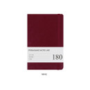 Wine - Prism 180 pages medium lined notebook with elastic band