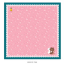 Breeze pink - Monopoly Line friends breeze squared edge hankie handkerchief