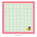 Breeze green - Monopoly Line friends breeze squared edge hankie handkerchief
