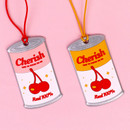 After The Rain Cherry can travel luggage name tag