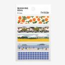 Dailylike Jeju masking seal paper deco sticker 4 sheets set