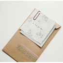 Example of use - Dailylike Lace flower 2 designs memo writing notepad