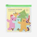 Dailylike Bear's journey PVC luggage deco sticker pack with zip pouch