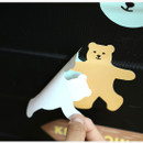 removed without any traces - Dailylike Bear's journey PVC luggage deco sticker pack with zip pouch