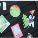 Example of use - Dailylike Bear's journey PVC luggage deco sticker pack with zip pouch