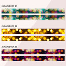 Universe rain drop 15mm width deco masking tape 04