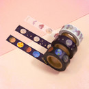 Universe moon 15mm width deco masking tape 02