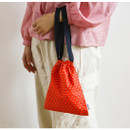 Example of use - Dailylike Fruit party cherry daily cotton drawstring pouch