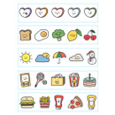 Dailylike My diary masking seal paper deco sticker 4 sheets set