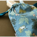 Example of use - Dailylike Tropical monkey daily cotton drawstring pouch