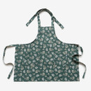 Dailylike Lace flower pattern linen cross back apron