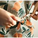 Waist tie - Dailylike Sweet fruits pattern oxford fabric cross back apron