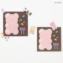 Jelly bean - ICONIC Buddy 80 sheets memo writing notepad