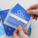 Example of use - 2NUL Smile mini clear card snap pouch case
