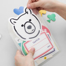 Example of use - 2NUL Smile square clear snap file folder case pouch