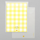 Example of use - 2NUL Smile A5 size clear snap file folder case pouch