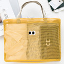 Livework Som Som stitch mesh snap button tote bag