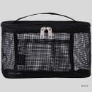 Black  - Livework A low hill spa mesh makeup cosmetic zipper pouch